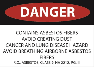 Asbestos Danger Sticker