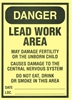 Lead Hazard Paper Sign