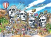 1000pc DoodleTown: Mount Rushmore jigsaw puzzle | Cobble Hill Puzzle Co