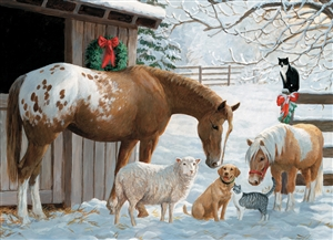 Family Pieces 350 Winter Barnyard jigsaw puzzle | Item 54604 | Cobble Hill Puzzle Co