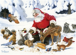 Family Pieces 350 Santa Claus and His Friends jigsaw puzzle | Item 54605 | Cobble Hill Puzzle Co