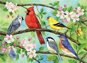 Family Pieces 350 Bloomin' Birds jigsaw puzzle | Item 54606 | Cobble Hill Puzzle Co