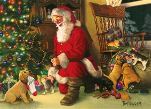 Family Pieces 350 Santa's Lucky Stocking jigsaw puzzle | Item 54611 | Cobble Hill Puzzle Co