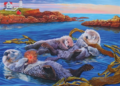 Family Pieces 350 Sea Otter Family jigsaw puzzle | Item 54619 | Cobble Hill Puzzle Co