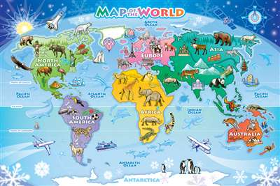 48pc Map of the World jigsaw puzzle | Cobble Hill Puzzle Company