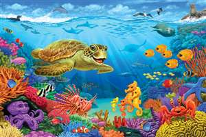36pc Ocean Reef jigsaw puzzle | Cobble Hill Puzzle Company
