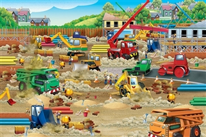 36pc Construction Zone jigsaw puzzle | Cobble Hill Puzzle Company