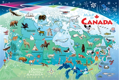 55119 48pc Map of Canada jigsaw puzzle | Cobble Hill Puzzle Company