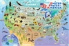 55120 48pc Map of the USA jigsaw puzzle | Cobble Hill Puzzle Company