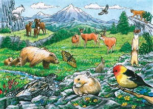 35pc Rocky Mountain Wildlife Tray jigsaw puzzle | Cobble Hill Puzzle Company