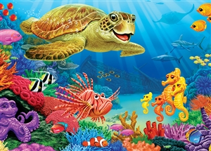 35pc Undersea Turtle Tray jigsaw puzzle | Cobble Hill Puzzle Company