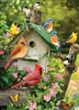 35pc Singing Around the Birdhouse Tray jigsaw puzzle | Item 58876 | Cobble Hill Puzzle Company