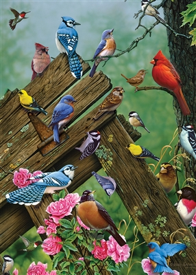 35pc Wildbird Gathering Tray jigsaw puzzle | Item 58889 | Cobble Hill Puzzle Company