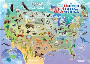 35pc USA Map Tray jigsaw puzzle | Item 58895 | Cobble Hill Puzzle Company