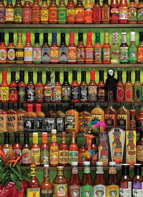 1000pc Hot Hot Sauce jigsaw puzzle | Cobble Hill Puzzle Company