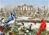 1000pc Country House Cardinals jigsaw puzzle | 80119 | Cobble Hill Puzzle Co