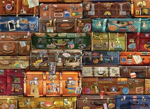 1000pc Luggage  jigsaw puzzle by Cobble Hill Puzzle Co.