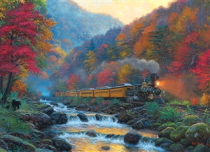 1000pc Smoky Train jigsaw puzzle by Cobble Hill Puzzle Co.