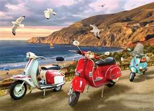 1000pc Scooters jigsaw puzzle by Cobble Hill Puzzle Co.