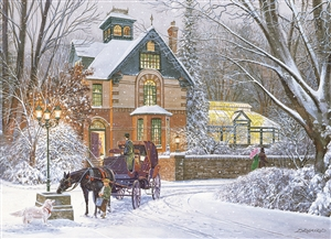 An Evening Stroll 1000pc jigsaw puzzle by Cobble Hill Puzzle Co.