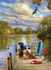 Dog Day Afternoon 1000pc jigsaw puzzle by Cobble Hill Puzzle Co.
