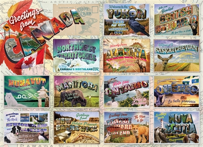 Greetings from Canada 1000pc jigsaw puzzle by Cobble Hill Puzzle Co.