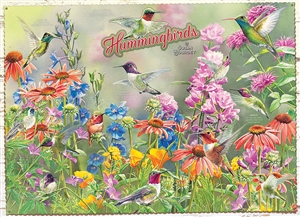Hummingbirds 1000pc jigsaw puzzle by Cobble Hill Puzzle Co.