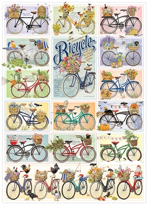 Bicycles 1000pc jigsaw puzzle by Cobble Hill Puzzle Co.
