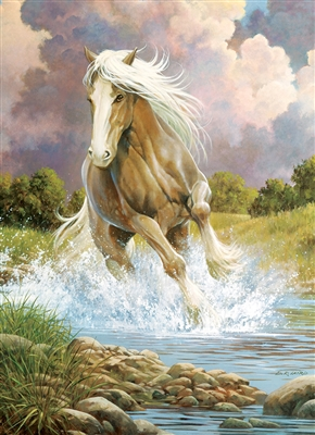 River Horse 1000pc jigsaw puzzle by Cobble Hill Puzzle Co.