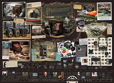 History of Photography 1000pc jigsaw puzzle by Cobble Hill Puzzle Co.