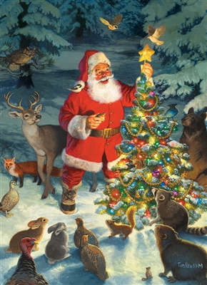 Santa's Tree 1000pc jigsaw puzzle by Cobble Hill Puzzle Co.