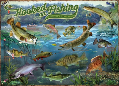 Hooked on Fishing 1000 Piece Puzzle by Cobble Hill Puzzle Co