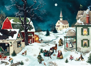 500 piece Moonlit Winter jigsaw puzzle | 85001 | Cobble Hill Puzzle Company