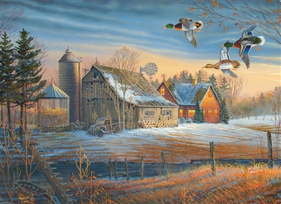 500pc Farmstead Flyby jigsaw puzzle by Cobble Hill Puzzle Co.