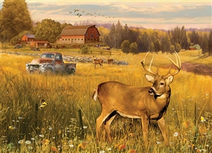 Deer Field 500pc jigsaw puzzle by Cobble Hill Puzzle Co.