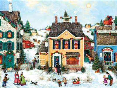 275 pc Easy Handling puzzle Christmas Town puzzle  | 88002 | Cobble Hill Puzzle Company