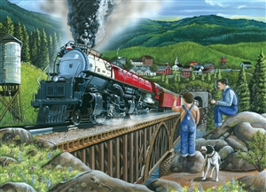 275pc Steaming Out of Town jigsaw puzzle | Cobble Hill Puzzle Company
