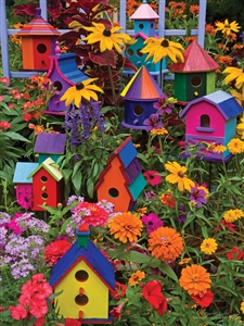 275 piece Easy Handling puzzle Birdhouses | 88014 | Cobble Hill Puzzle Company