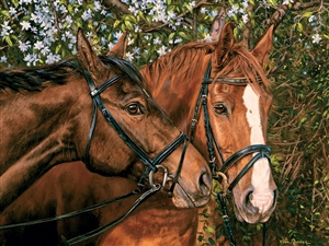 275 piece Easy Handling horse puzzle Friends Forever | 88015 | Cobble Hill Puzzle Company