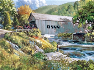 Covered Bridge  Easy Handling 275 pc jigsaw puzzle by Cobble Hill Puzzle Co.