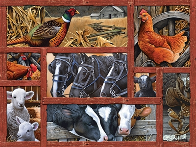 Farmyard Friends  Easy Handling 275 pc jigsaw puzzle by Cobble Hill Puzzle Co.