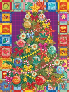 Christmas Tree Quilt Easy Handling 275 Piece Puzzle by Cobble Hill Puzzle Co