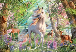 2000pc Unicorn and Friends jigsaw puzzle by Cobble Hill Puzzle Co.
