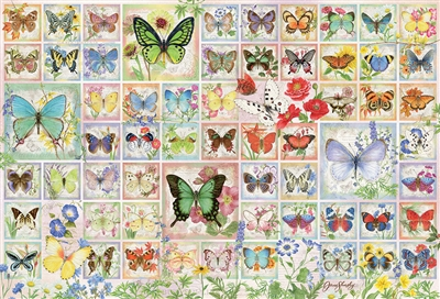 Butterflies and Blossoms 2000 Piece Puzzle by Cobble Hill Puzzle Co