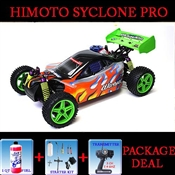 2.4 GHZ Himoto Racing 1:10 Scale Two Speed Nitro Powered 4wd Off-road Buggy