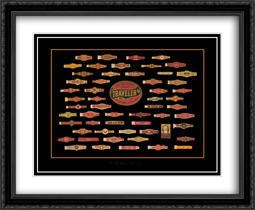 Cigar Brand No.15 2x Matted 28x22 Large Gold or Black or Gold Ornate Framed Art Print