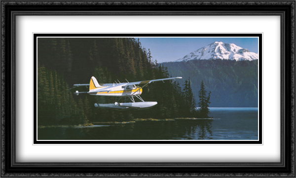 Northwest Passage 2x Matted 30x20 Large Gold or Black or Gold Ornate Framed Art Print by Ross Buckland