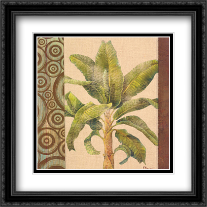 Parlor Palm I 2x Matted 28x28 Large Gold or Black or Gold Ornate Framed Art Print by Paul Brent