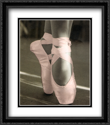 Ballet Shoes 2x Matted 26x32 Large Gold or Black or Gold Ornate Framed Art Print by Lipson
