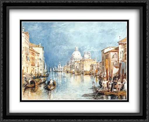 Grand Canal, Venice 2x Matted 30x22 Large Gold or Black or Gold Ornate Framed Art Print by J.M.W. Turner